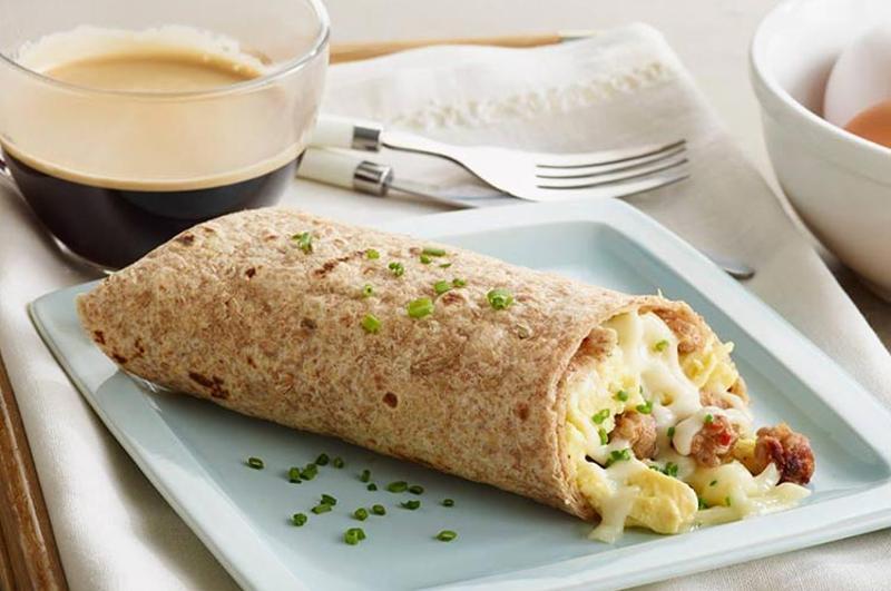 caribou coffee breakfast wrap