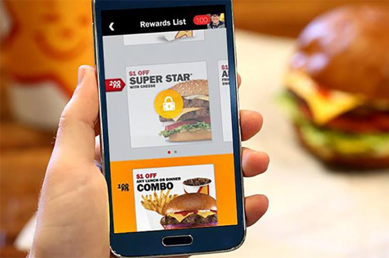 carls jr rewards app