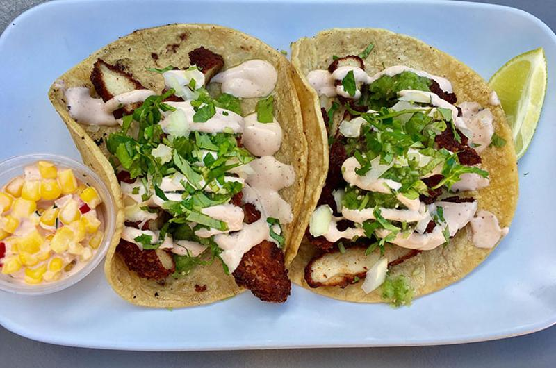 carnitas snack shack chicken tacos