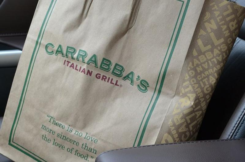 carrabas takeout bag