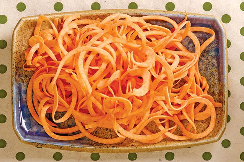 spiralized carrots