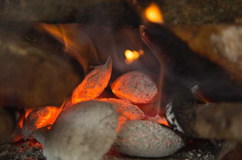 charcoal smoke