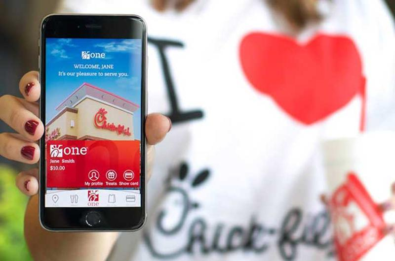 chick fil a app woman