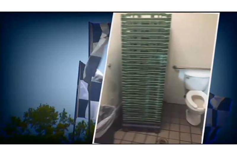 checkers hamburgers toilet