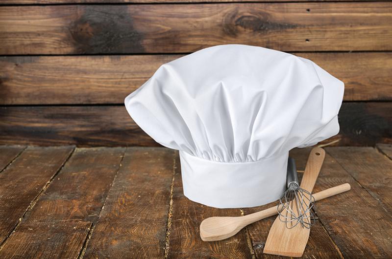 chef hat kitchen utensils