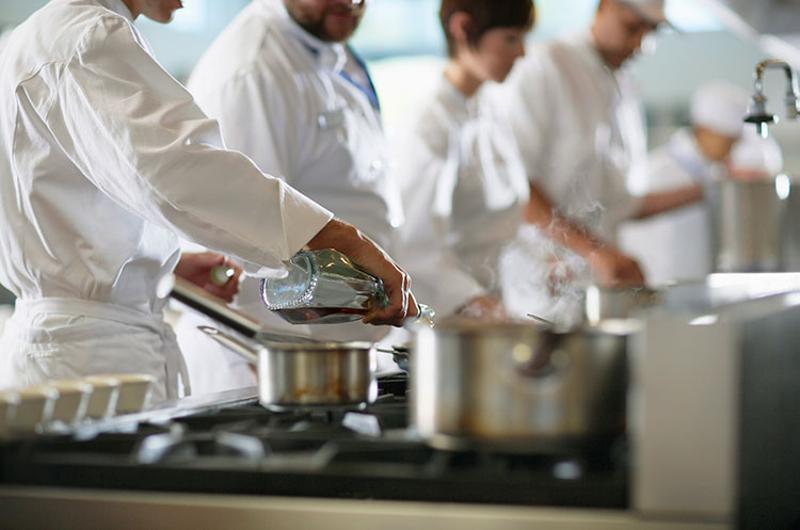 chefs restaurant back of house