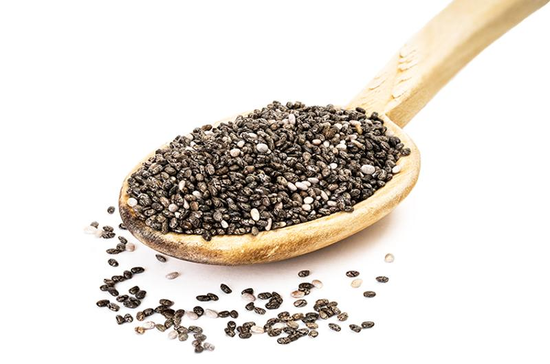 chia seeds spoon
