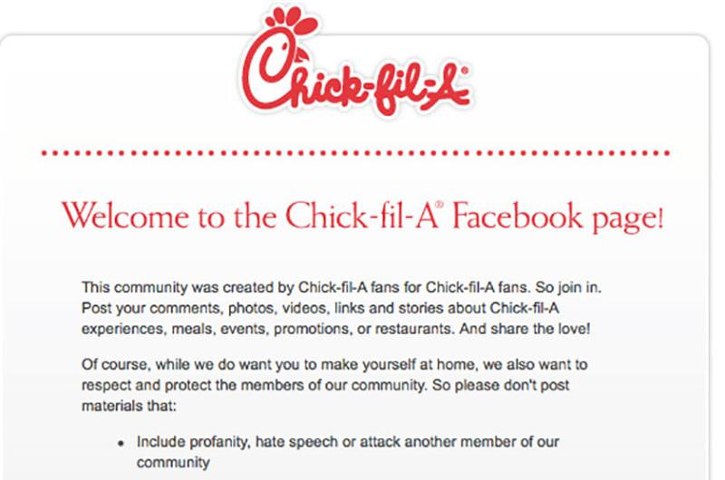 chick fil a house rules