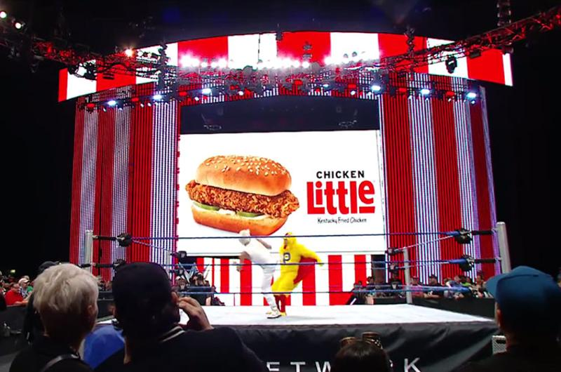 chicken little wwe kfc