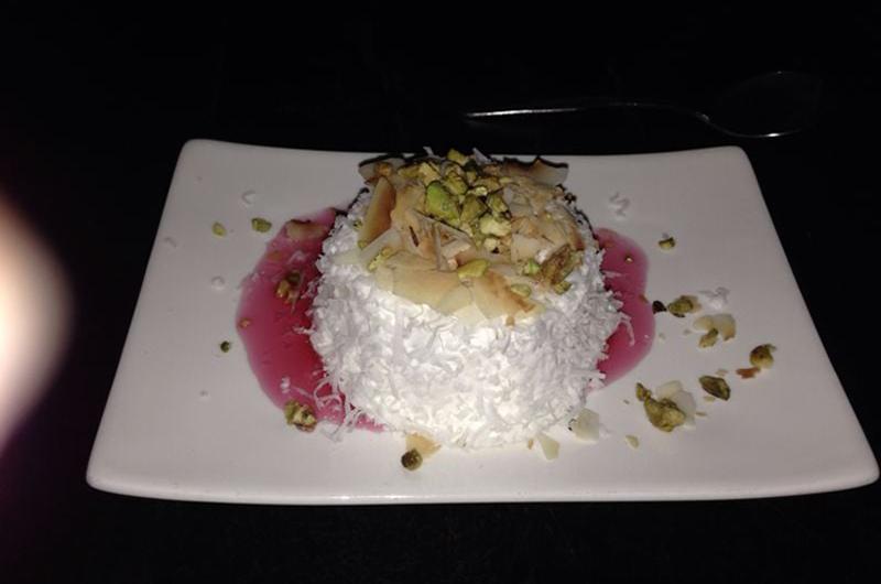 Coconut rose water cake