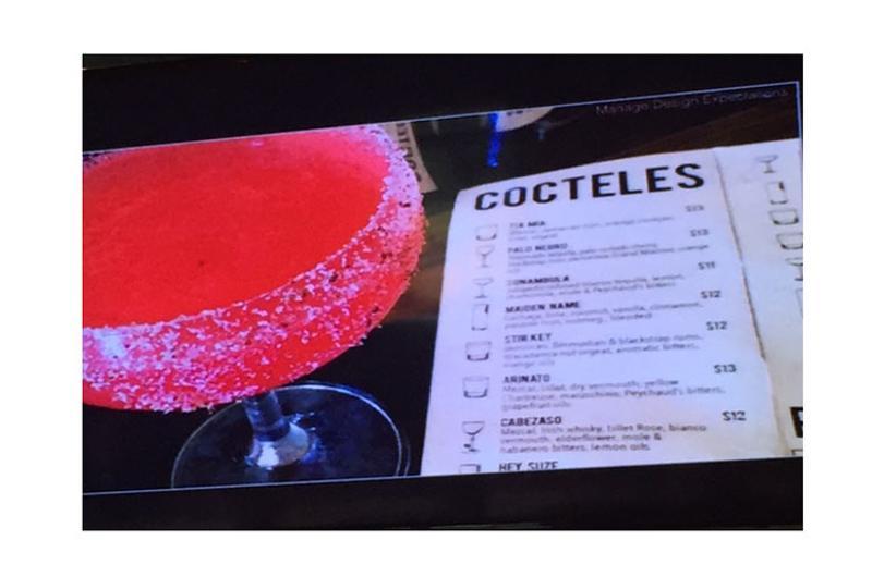 cocktail list glasses