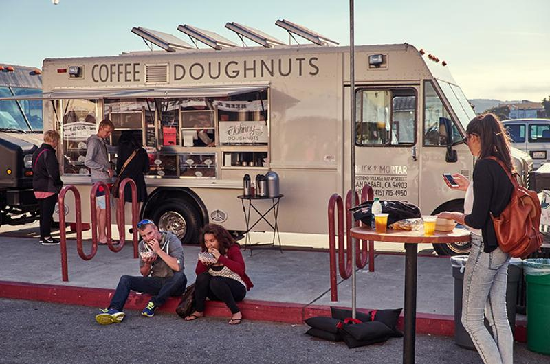 Coffee and Doughnuts food truck