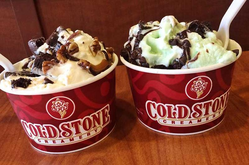 cold stone ice cream cups