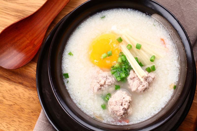 congee egg
