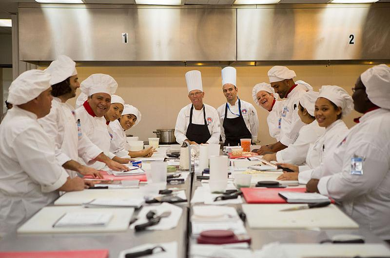 cooking class students culinary