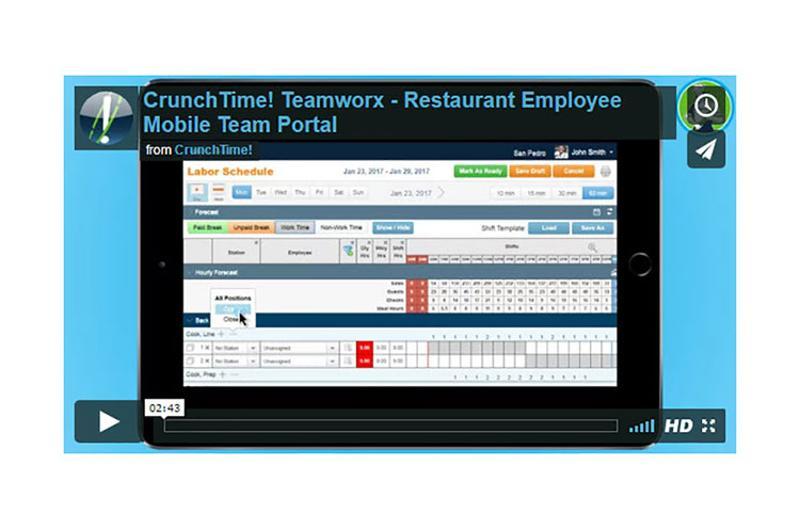 labor schedule teamworx