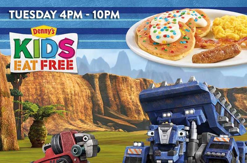 dennys kids free tuesdays