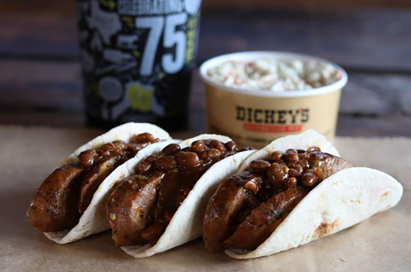 dickeys frank beans taco