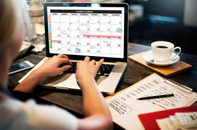 digital calendar planner schedule