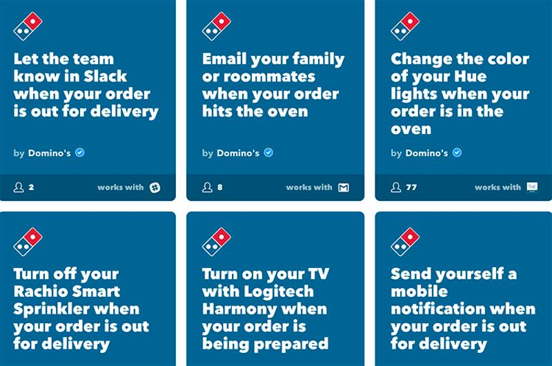 dominos order screen
