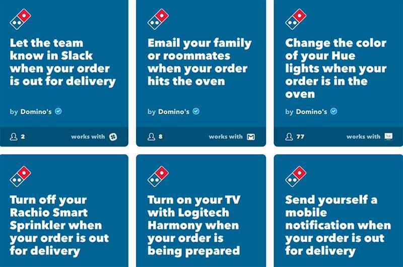 dominos order screen