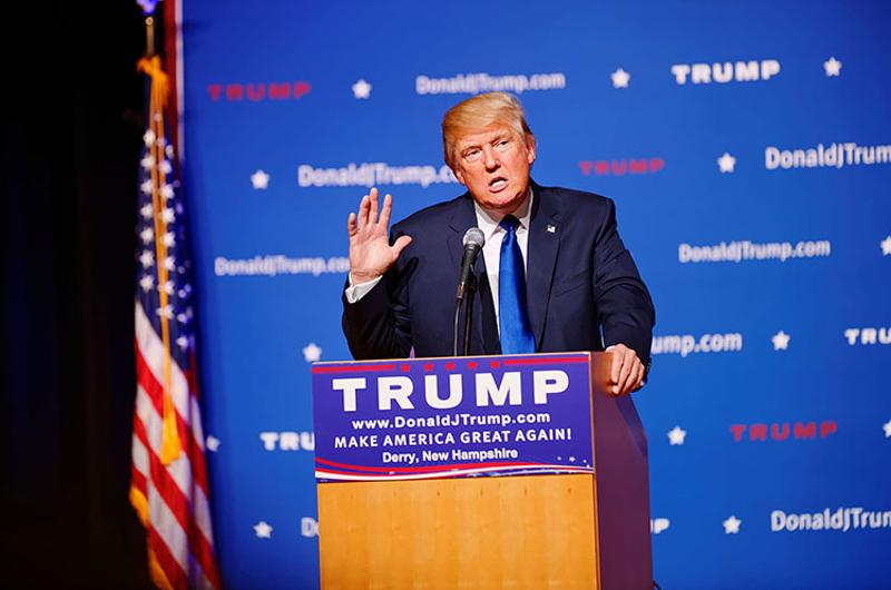 donald trump trown hall