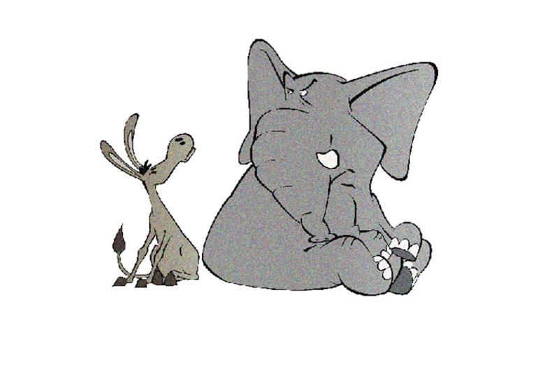 donkey elephant graphic