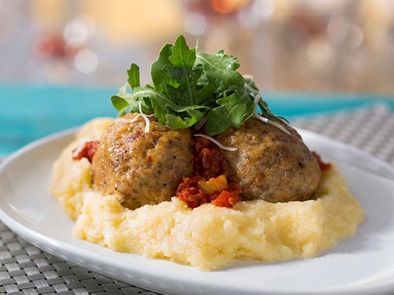 Disney Food Trucks sausage meatball polenta