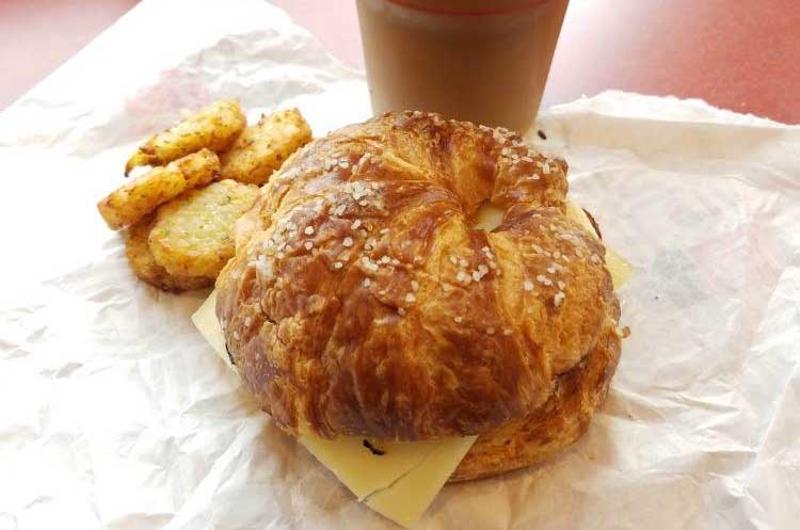 dunkin donuts pretzel croissant