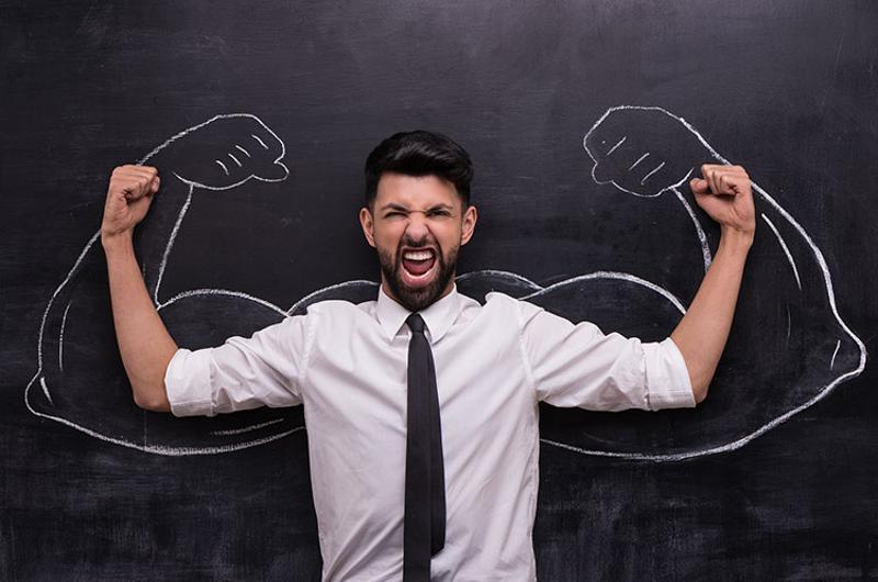 employee motivation strong flexing
