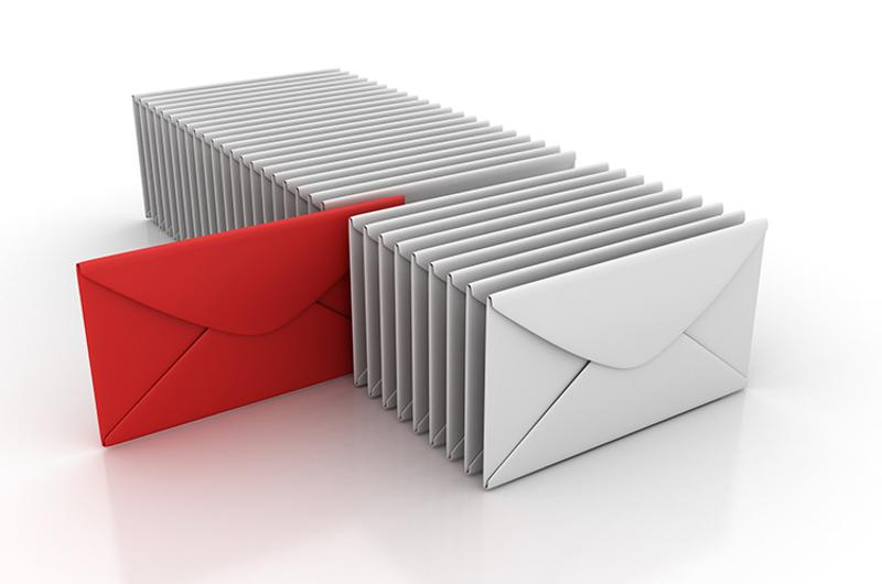 envelopes row email