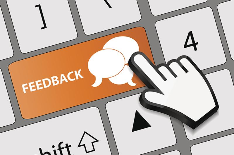 feedback keyboard button