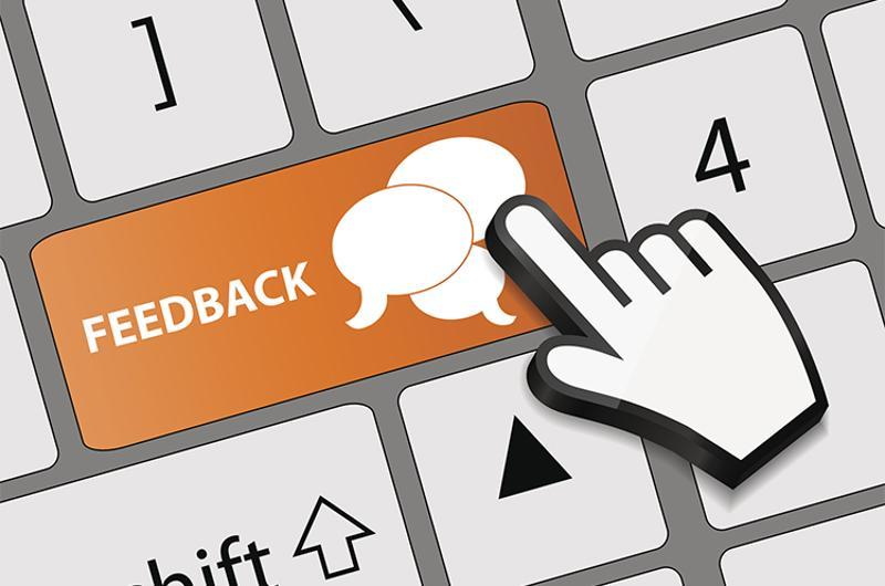 feedback keyboard button