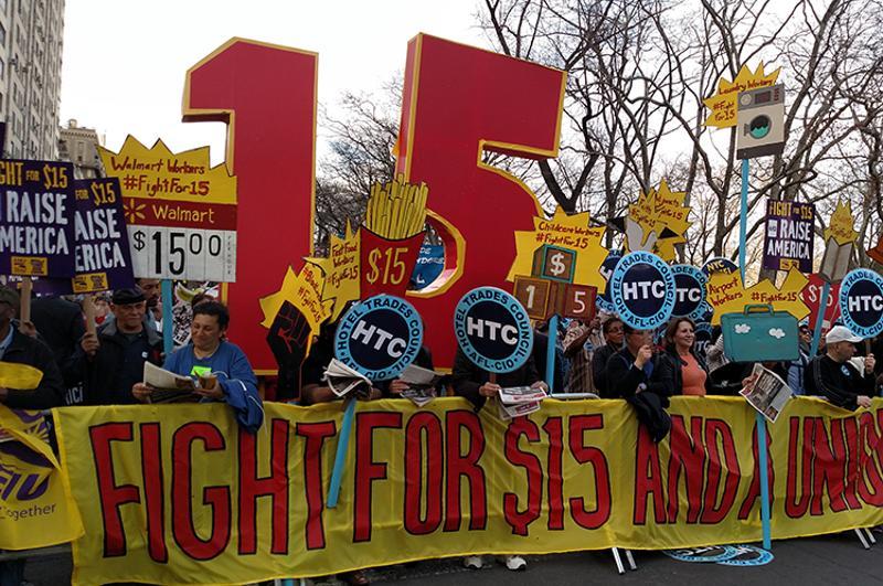 Fight for 15 minimum wage restaurants