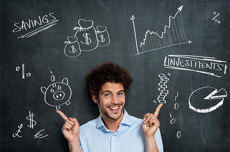 finance chalkboard