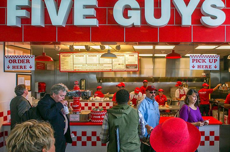 five guys counter