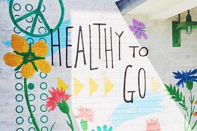 Flower Child design, art: healthy to go