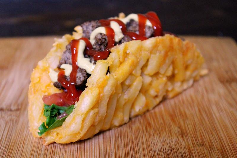 french fry taco