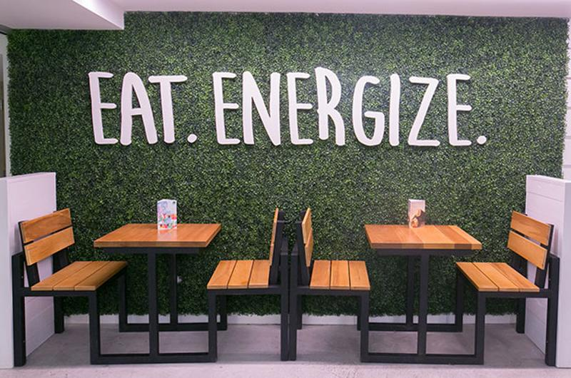 freshii green wall