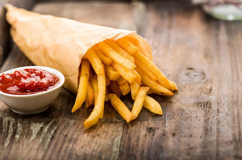 fries cone ketchup