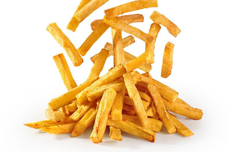 fries pile falling