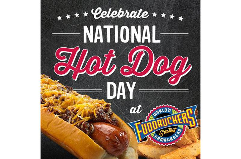 fuddruckers hot dog day