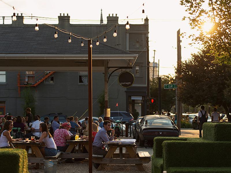 garage bar outdoor seating