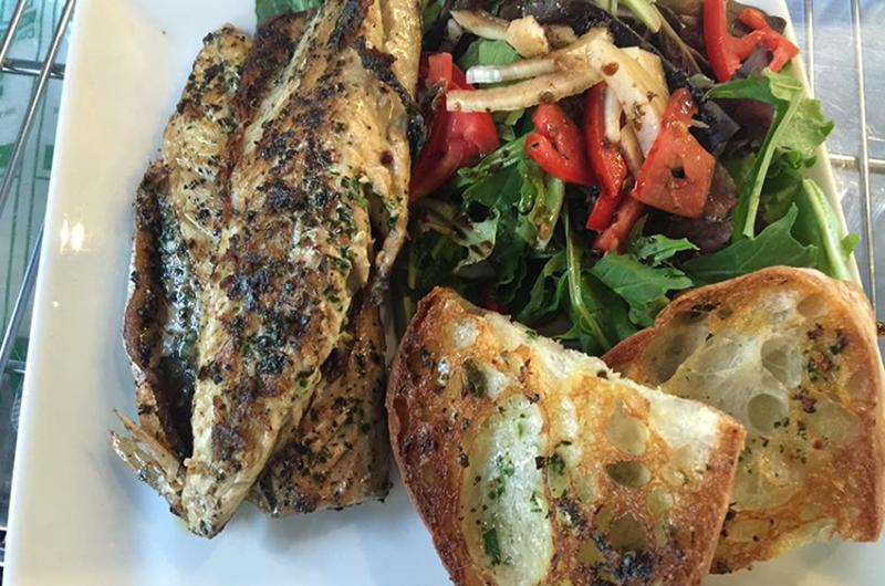 gastro mania grilled mackerel salad