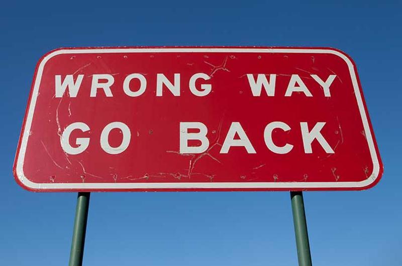 go back sign