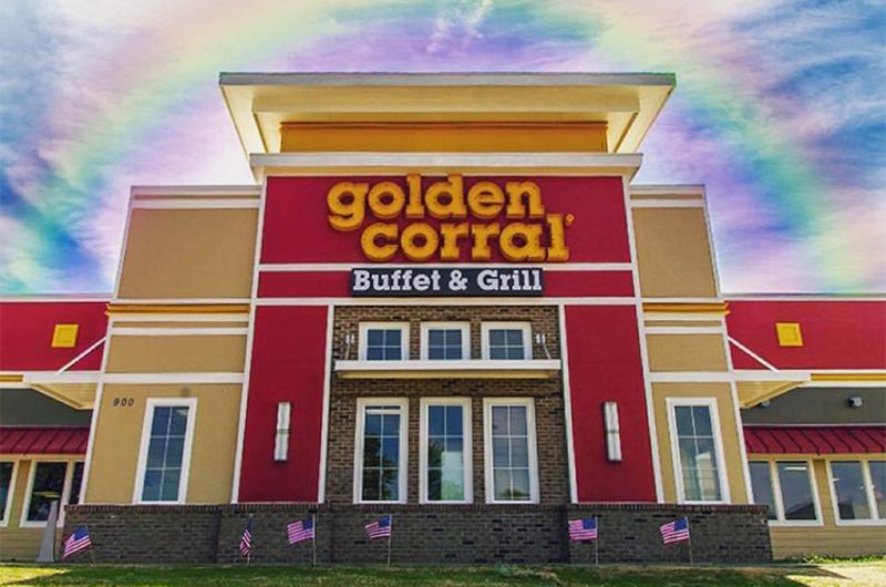 golden corral exterior