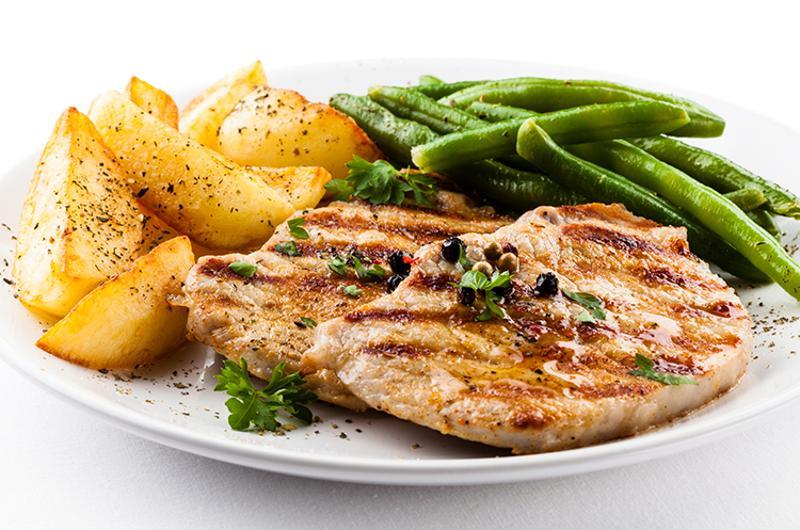 grilled chicken veggies potatoes