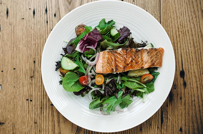grown salmon salad