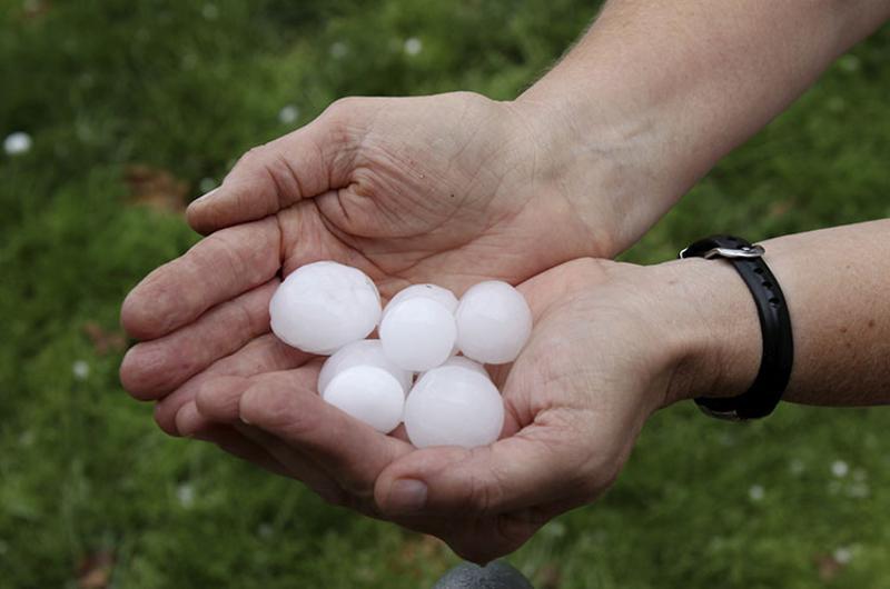 hail ice hands