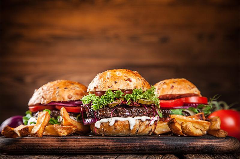 hamburger trio